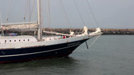 Stock Video Footage of PORT HAGUE SAILING VESSEL SCHOONER MASTS 4