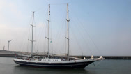 Stock Video Footage of PORT HAGUE SAILING VESSEL SCHOONER MASTS 3