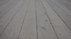 Wood Deck Texture Background Stock Footage