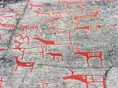 Stock Photo of The rock art in Alta