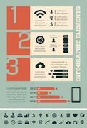Technology Infographic Elements Stock Illustration