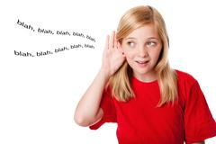 What kids hear - stock photo