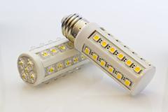 LED light bulbs compare Stock Photos