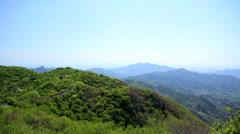Eastern China reclaiming The Great Wall Mutianyu Beijing - stock footage