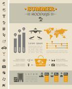 Travel Infographic Template. - stock illustration