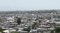 Residential Port au Prince as far as the eye can see Stock Footage
