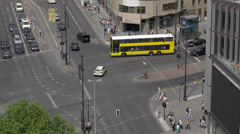 Berlin Kurfuerstendamm crossing, 4K raw Stock Footage