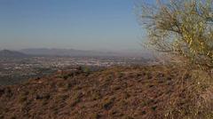 Scenic overlook of Phoenix, Arizona Stock Footage