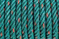 green nylon rope - stock photo