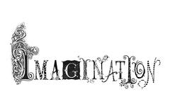 Imagination typography illustration Stock Illustration