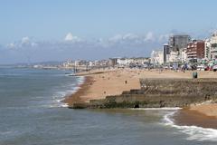 Brighton Beach. East Sussex.UK - stock photo