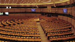 European Parliment Stock Footage