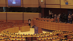 European Parliment. Inside Stock Footage