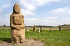 Stone idols - stock photo