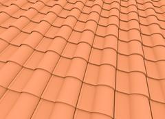 Roof tiles Stock Illustration