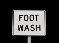 Foot wash sign Stock Photos