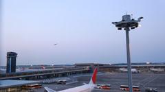Narita International Airport Terminal 2, Chiba Prefecture, Japan Stock Footage
