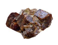 garnet crystals - stock photo