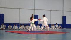 Karate Kids (girls) Stock Footage