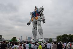 Gundam Life-Size Replica In Odaiba - stock photo