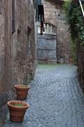 Orvieto street - stock photo