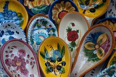 Traditional ceramics in Orvieto - stock photo