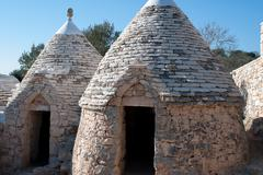 Trulli in Puglia - stock photo