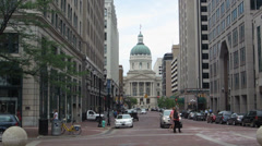 Indiana State Capital Building Stock Footage