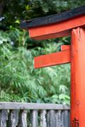 Torii Gate At Nezu Shrine Stock Photos