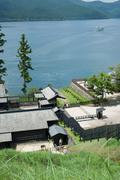 Lake Ashi coast Stock Photos