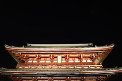 Senso-ji temple at night Stock Photos