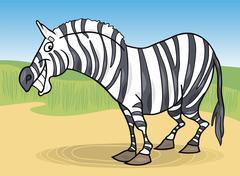 Stock Illustration of cartoon zebra