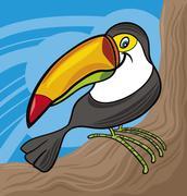 Stock Illustration of cartoon toucan