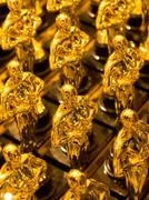 Stock Photo of array of golden statues
