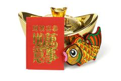 chinese new year ornaments - stock photo
