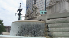 Indianapolis War Memorial Fountain Stock Footage