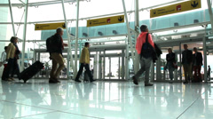 Main lobby in the Lisbon Airport in Portugal. Stock Footage