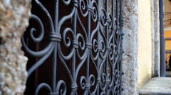 Gate at Hellbrunn Palace Stock Footage