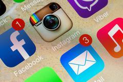 Social Media Applications Stock Photos