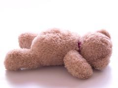 Fallen teddy bear Stock Photos