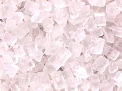 White sugar crystals Stock Photos