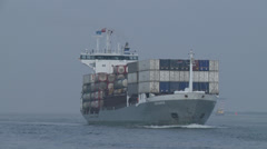 ROTTERDAM PORT CARGO SHIP CONTAINER SHIP 1 Stock Footage