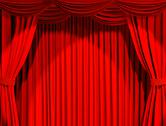 Theatrical curtain Stock Illustration