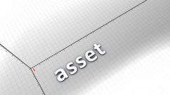 Stock Video Footage of Growing chart graphic animation, Asset.