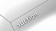 Growing chart graphic animation, Auction. - stock footage