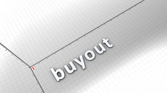 Growing chart graphic animation, Buyout. - stock footage