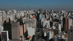 Traffic in the city. Sao Paulo, Brazil. View of the city. Stock Footage
