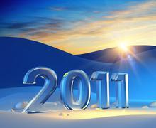 new year 2011 - stock illustration