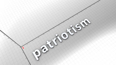 Growing chart graphic animation, Patriotism. Stock Footage