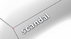 Growing chart graphic animation, Scandal. - stock footage